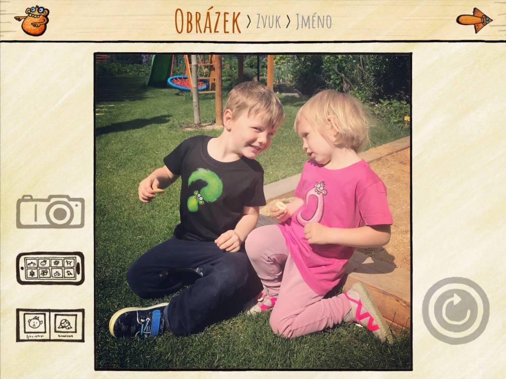 Vyfoť vlastní fotky apřidej je do appky pro své děti.