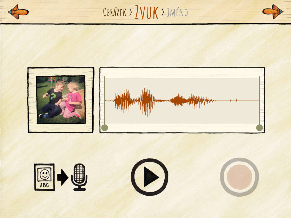 Nahraj kobrázkům vlastní zvuky apřidej je do appky pro své děti.